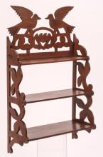 DOVE CARVED MAHOGANY WHAT-NOT SHELF