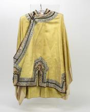 ASIAN EMBROIDERED SILK COAT