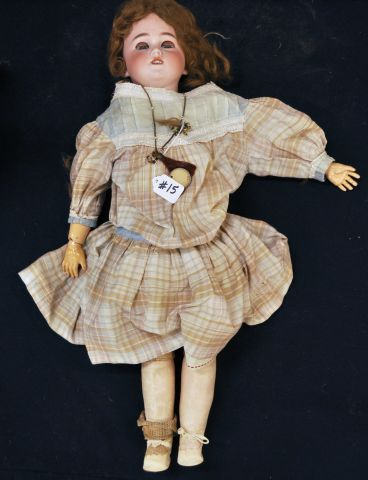 "26"" Bisque shoulder head, sleep eyes, open mouth, marked Germany 11 1/2"