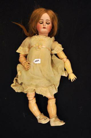 "31"" Bisque head composition body doll, marked K*R, Simon and Halgib"