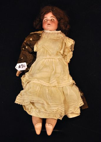 "20"" Bisque twisted shoulder head doll marked 3700AM01/2DEP, made in Germany"