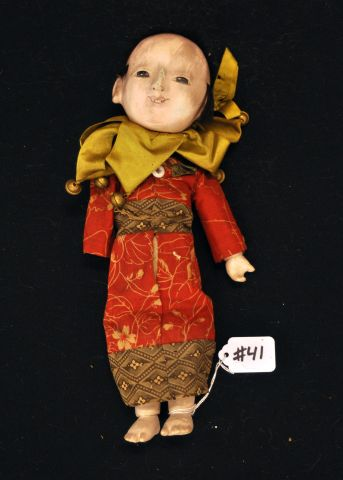 "11"" Japanese boy doll, composition, glass eyes"