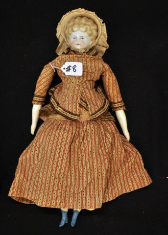 "18"" Blonde low brow China head, cloth body"