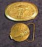 843. Schlitz & Long Horn Belt. Buckles.