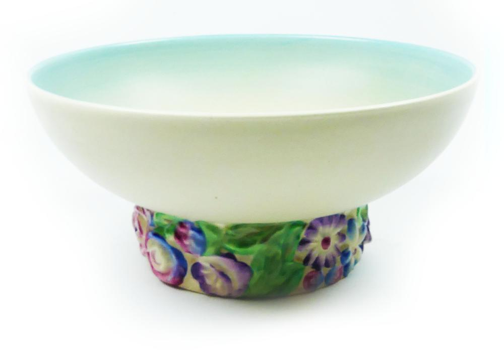 "Clarice Cliff ""My Garden Series"" with decorative Flower Base"