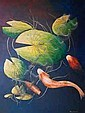 Terry Cousins (b.1931) Koi Oil on board Signed, Terry Cousins, Click for value