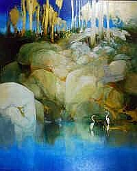 Ken Taber (b.1942) Golden Morning Oil on canvas