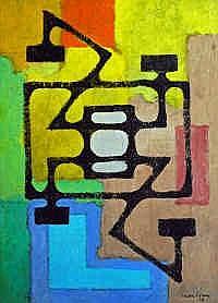 Irwin Crowe (1908-2003) Untitled Oil on board