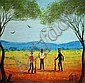 Kym Hart (b.1965) Ned Kelly and Gang Oil on board, Kym Hart, Click for value