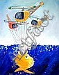 Leon Pericles (b.1949) Helicopters, Submarine &, Leon Pericles, Click for value