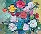 Diana Johnston (b.1941) Roses Oil on canvas Signed, Diana Johnston, Click for value
