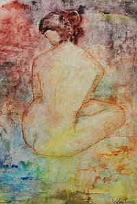 Irwin Crowe (b.1903) Nude Study Mixed media Signed