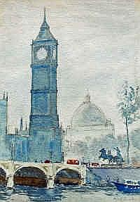 Cyril George Lander (1892-1983) Big Ben, London