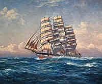 John Allcot (1888-1973) The Hesperus Oil on canvas