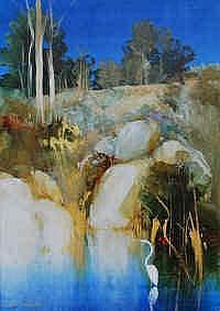 Ken Taber (b.1942) Lagoon Acrylic on board Signed