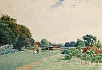 James WR Linton (1869-1947) Rural Scene (Possibly