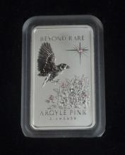 1oz Platinum Ingot, with 0.11ct Argyle Pink
