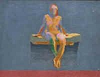 George Haynes (b.1938) Seated Nude Acrylic on