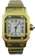18ct Cartier Santos Galbee Ladies Bracelet Watch