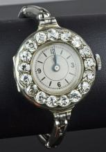 18ct White Gold Diamond Set Ladies Watch
