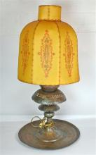 A Persian Lamp with Parchment Shade