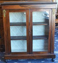 A William IV Rosewood Dwarf Bookcase