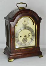 A Georgian Mahogany Bracket Clock