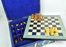 An Italian Marquetry Veneer Chess Playing Set