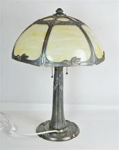 An American Art Nouveau Millers Table Lamp