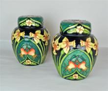 A Pair Moorcroft Pottery Carousel Centenary