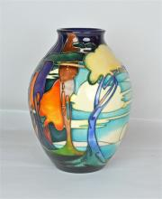 A Moorcroft Pottery Light on Waters Vase