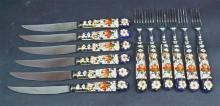 A Boxed Set of Royal Crown Derby Imari Pattern
