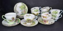 A Shelley China Landscape Scenes Part Tea Set
