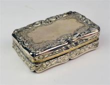 A Victorian Sterling Silver Snuff Box