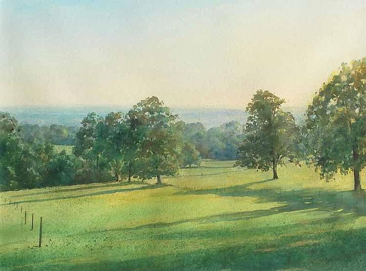 Douglas Kirsop (b.1952) Green Pastures Watercolour