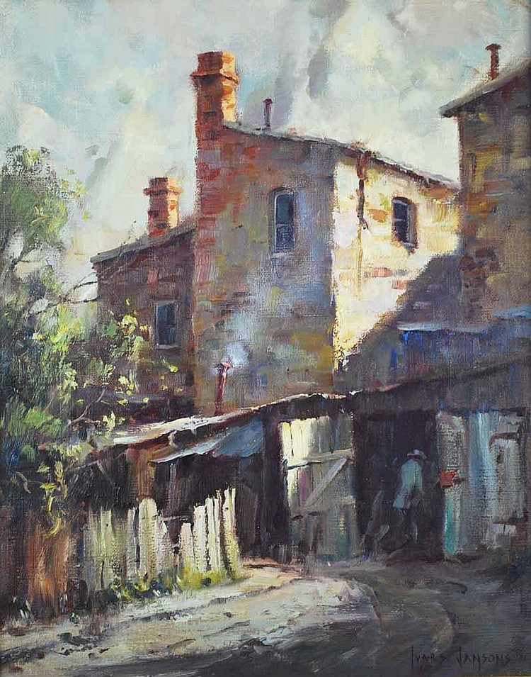 Ivars Jansons (b.1939) Back Lane, Port Melbourne