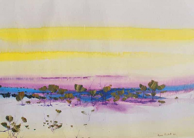 Shane Pickett (1957-2010) Landscape Mixed media
