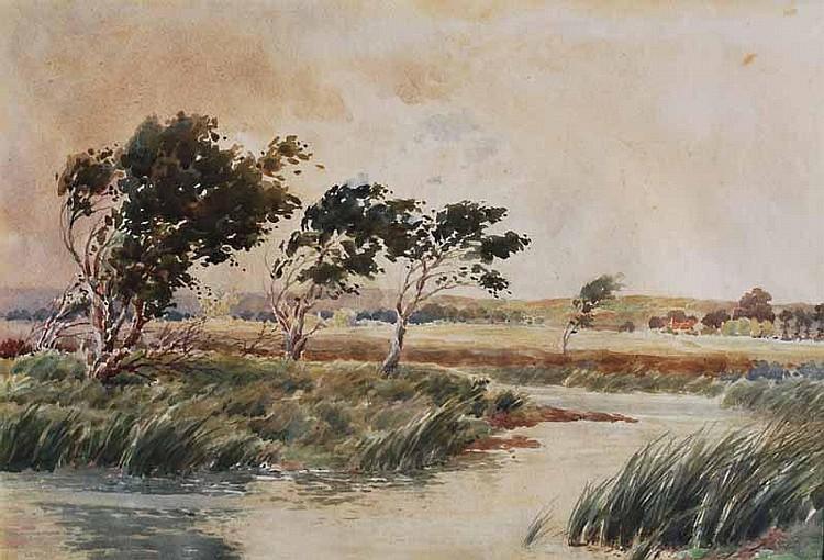 James WR Linton (1869-1947) Windswept Scene