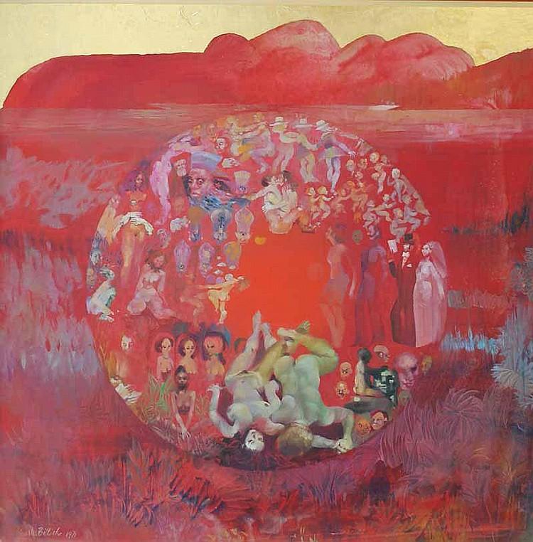 Charles Billich (b.1934) Figures in a Desert