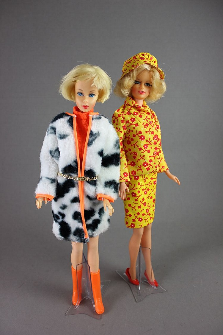 (2) BARBIES - HAIR FAIR IN #1873 PLUSH PONY AND TNT STACEY IN #1688 TRAVEL TOGETHERS
