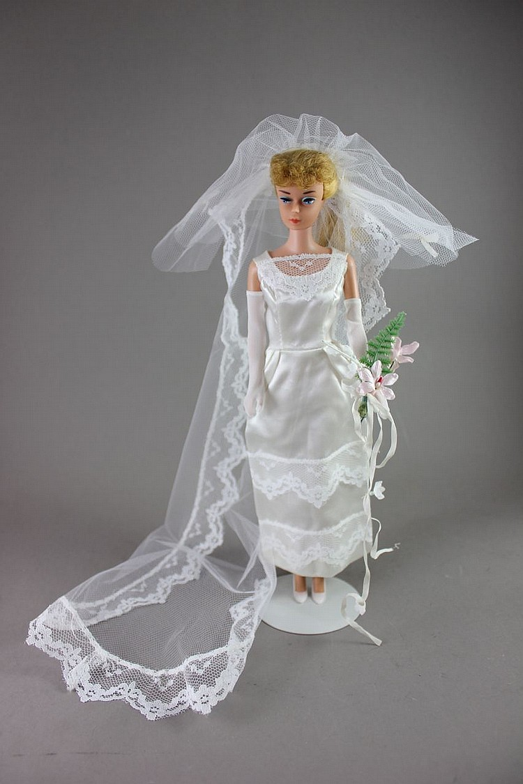 #6 BLONDE PONYTAIL BARBIE IN #1655 HERE COMES THE BRIDE