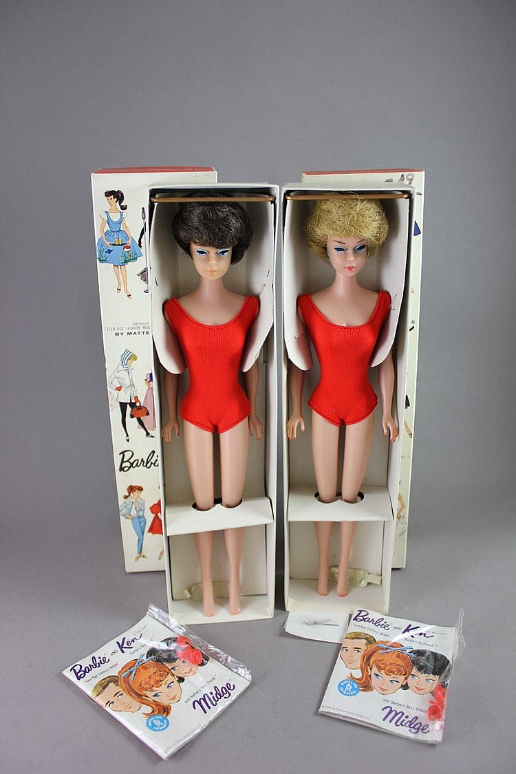 (2) BUBBLE CUT BARBIES WITH ORIGINAL BOXES