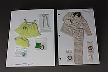 KEN AND BARBIE ENSEMBLES - SLEEPER SET #781 AND SWEET DREAMS #973