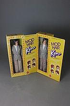 TWO MOD HAIR KEN DOLLS NRFB