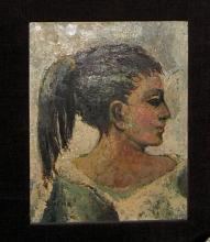 Original oil painting by Gary Slipper - Side portrait of a woman