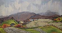 Original oil painting by Paul Rodrik - First Snow Near St. Urban, Quebec