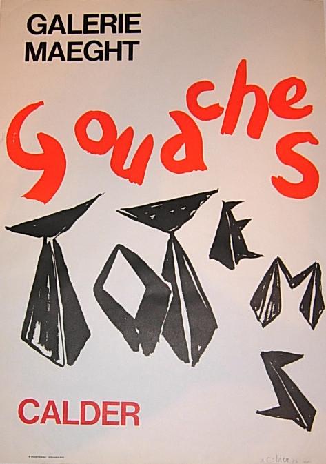 Vintage Alexander Calder Exhibition Poster