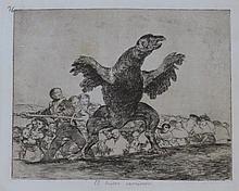 Goya etching: The Carnivorous Vulture (El Buitre Carnívoro)