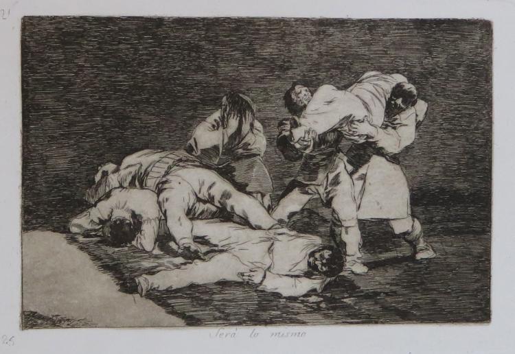 Etching by Goya: Sera lo Mismo