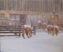 Original oil painting by Canadian artist Brian Darcy - Heading In